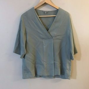 COS Collection of Style Cupro 3/4 Sleeve Blouse